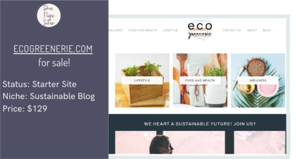ecogreenerie.com - Eco Greenerie Starter Site For Sale!