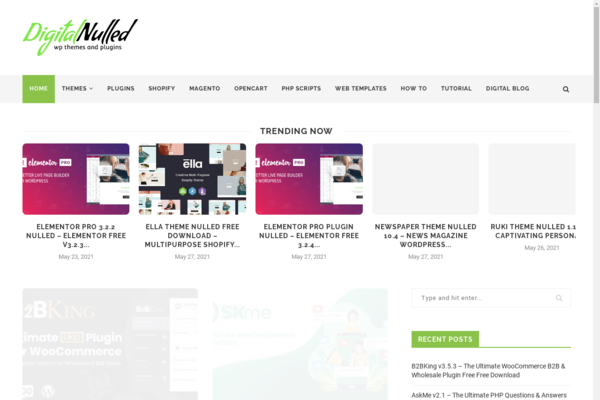 digitalnulled.com - WordPress & PHP Downloadable Website