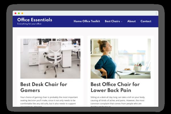 officeessentialstoday.com - Affiliate blog about ergonomic home desk furniture.