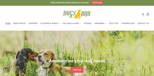 DogsAim.com - Dropship Dog Store-Huge Earning-Pro Design-Newbie Friendly-$1.5KBIN Bonus