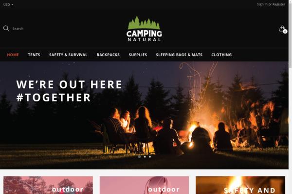 campingnatural.com - Camping Equipment Dropshipping Website