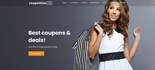 couponimo.com - Coupons & Deals Website like Groupon, Retailmenot. Potential Earn up to 10k$/mo