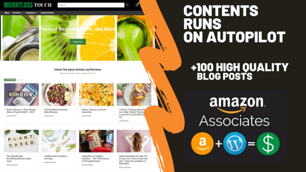 weightlosstouch.com - weightlosstouch.com Can Generate Up To 5000 USD Per Month | Weight Loss Amazon Affiliate Website | 100 High-Quality Blog Posts | Domain Valued $1,218