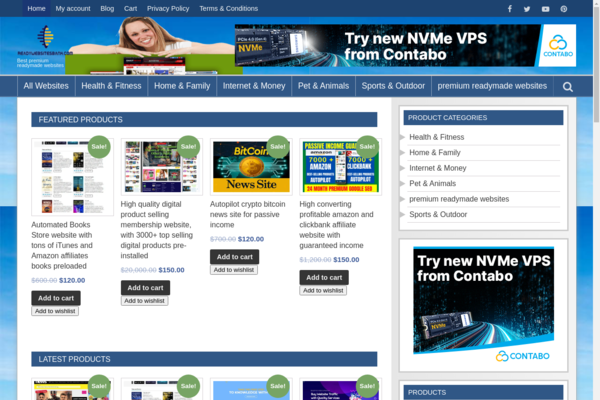 readywebsitesbank.com -  Automated & preloaded Ready Made premium Websites & niche site selling website