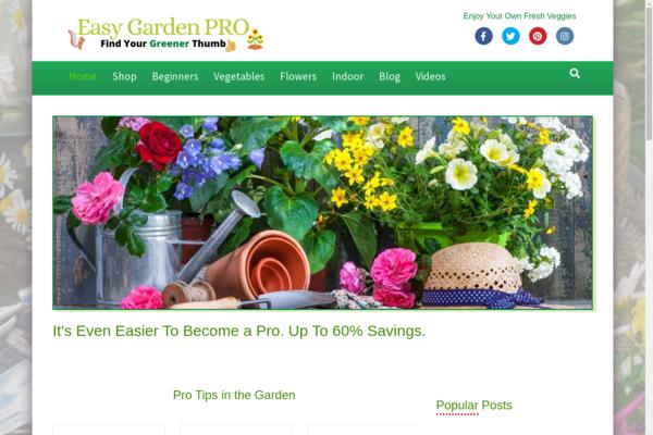 EasyGardenPro.com - GROWING Gardening Niche - 100% Fully Auto - Newbie Friendly - Fast Site.