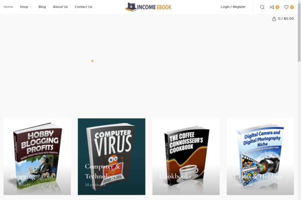 incomeebook.com - Start your own automated digital product store Earn & Keep Money from Each sale