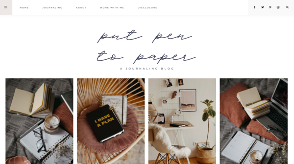 putpentopaper.blog - SUPER CHEAP Template Blog about Journaling with Aesthetic Design and Much More!