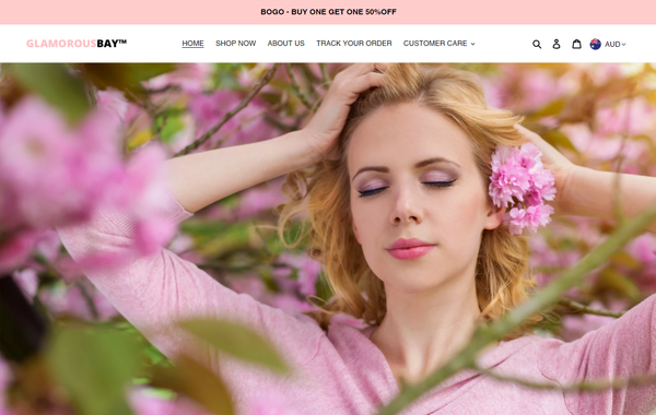 glamorousbay.com - Online based beauty brand dropshipping directly to customers