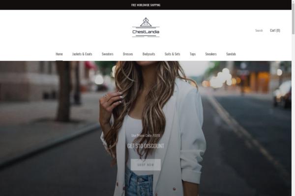chestlandia.com - Online store of women's clothing on the Shopify platform