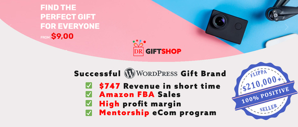 Dr Gift Shop - HIGH-VALUE Gift & Tech Brand - 747$ Revenue in just 11 days. Detailed strategies & mentoring included. Easy to run, top quality, and high converting store.