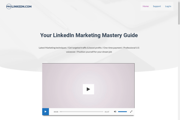 ProLinkedn.com - LinkedIn Marketing Course  With 20 Premium HD Videos Recorded in 2020