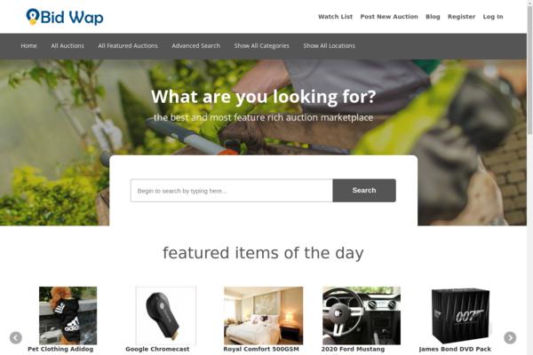 bidwap.com - Modern Web Auction Marketplace - Passive Profit. Modern Design. Huge Potential.
