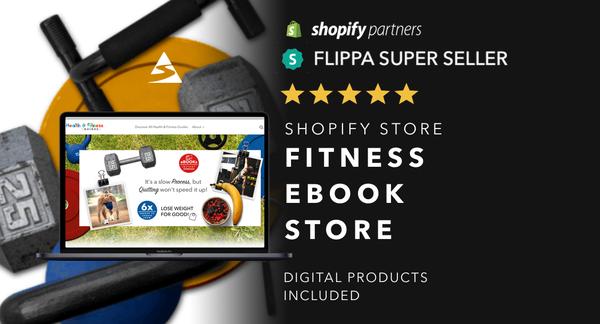 EbooksOnFitness.com - Password: 1234| Fitness Health Ebook Shopify Store For Sale Startup Streams