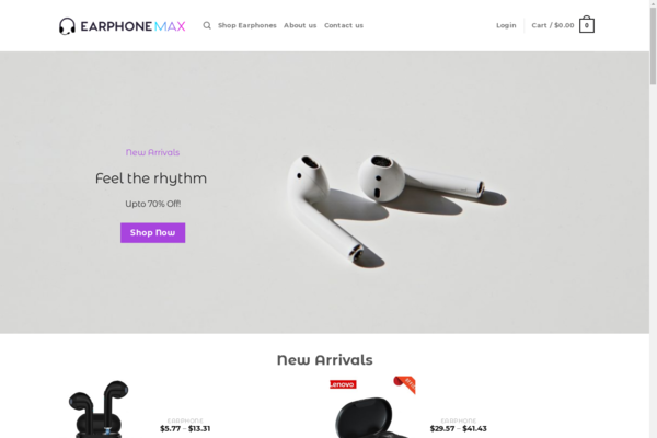 EarphoneMax.com - EarphoneMax.com - Automated Dropshipping Business - No Reserve - +$1000 Worth