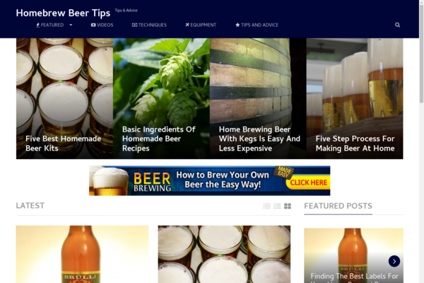 HomebrewBeerTips.com - Hot New Niche! - Homebrew Beer Blog - Potential Income! - BIN Bonuses!
