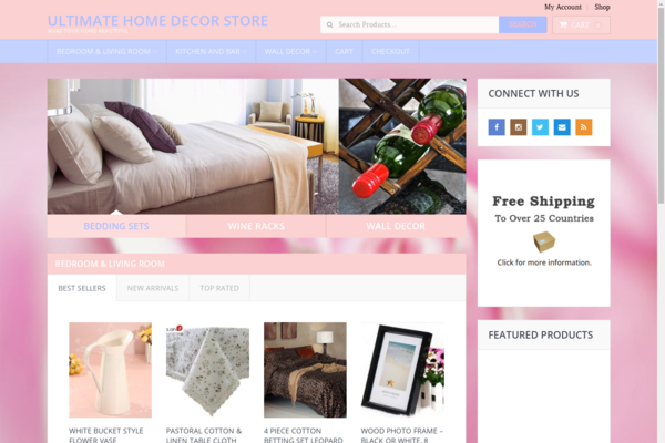 UltimateHomeDecorStore.com - Hot New Niche! - Home Decor Dropship eCommerce Site! - BIN Bonuses!