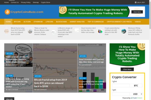 CryptocoinsBuzz.com - 100% Automated Crypto & Bitcoins Site - 2 Years Free Host BIN + Great Bonuses