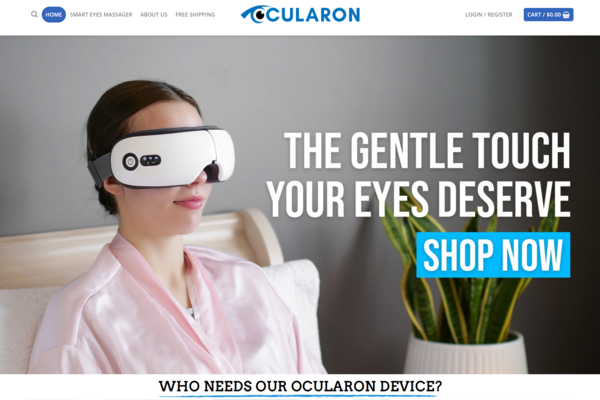 Ocularon.com - Premium Eye Massager Dropshipping Store, Earn Up To $5k/Month |Trending
