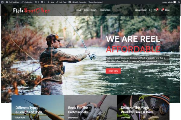 fishsnatcher.com - Premium Brand Fishing Store, Autopilot site, Huge Affiliate Income Potential.