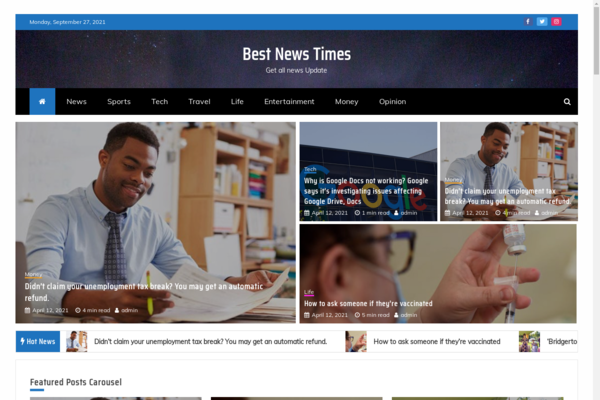 bestnewstimes.com - Crypto News Site  Earn Passive Income  Domain Value $1294