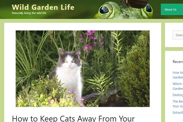 wildgardenlife.com - Starter website for garden wildlife articles.