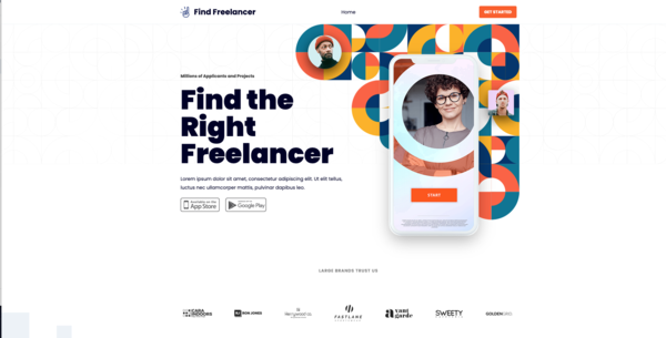 FindFreelancer.xyz - Premium Freelancer Website & Premium Domain, Easy to Operate. Make money online! Starts @ $1