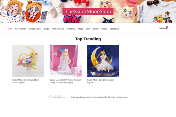 thesailormoonshop.com - Dropshipping Store in a super targeted niche with almost ZERO competition.