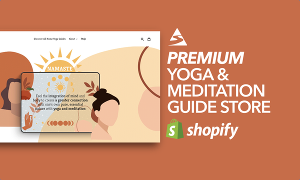 HomeYogaGuides.com - Password: 1234 | Yoga Meditation Ebook Digital Product Shopify Store