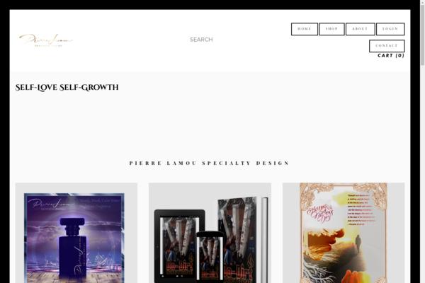 pierrelamou.art - Custom Design Website