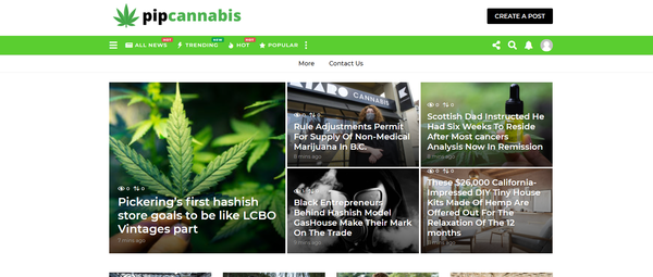pipcannabis.com - Cannabis Automated Blog with Articles Rewriter Site News. Get Organic Traffic!