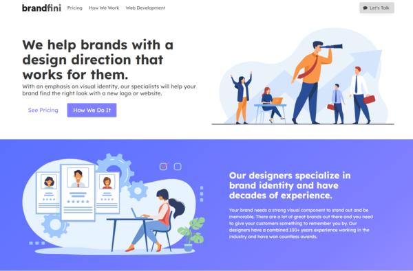 brandfini.com - Best Logo Site on Flippa: Sell Logo Design & Web Dev Services