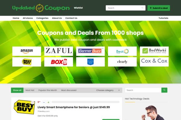 updatedcoupon.com - Get Premium Coupon Domain, Autopilot site, Huge Affiliate Income Potential.
