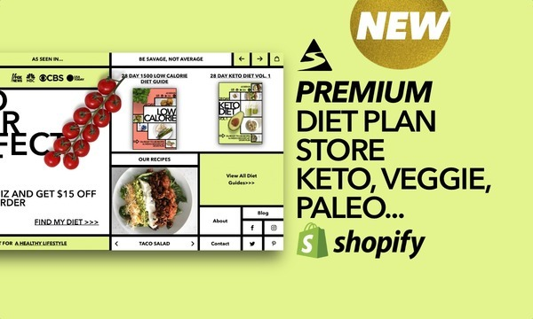 WhichDietGuide.com - Password: 1234 | NEW PREMIUM Diet Plan Shopify Store For Sale By Startup Streams