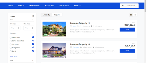 galathouse.com - real estate website for buying and selling houses