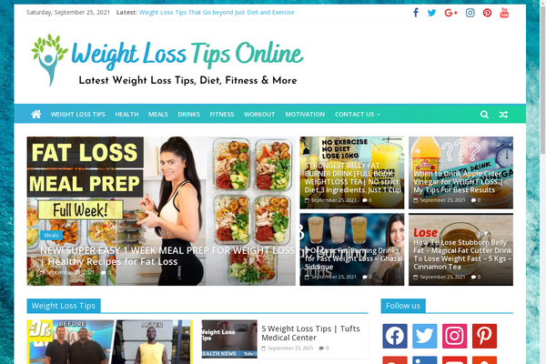 WeightlossTipsOnline.com - Popular Weight Loss Niche - Killer Design - Fully Automated - 1 Extra site Or 1 Year free hosting for BIN + Bonuses