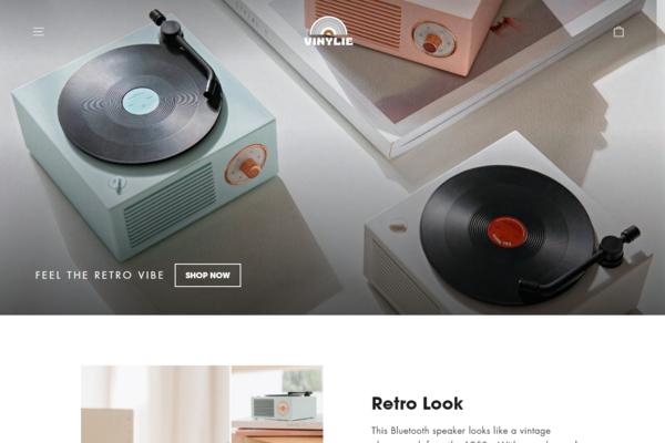 vinylie.com - Vinylie.com   Branded One Product Shopify Store