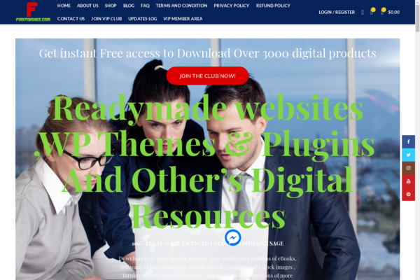 firstdigibiz.com - Established digital product selling website, with 3000+ products pre-installed