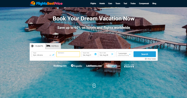 FlightsBestPrice.com - Automated Travel Site For Passive Income, Earn Up To $10k/mo on Flights, Hotels