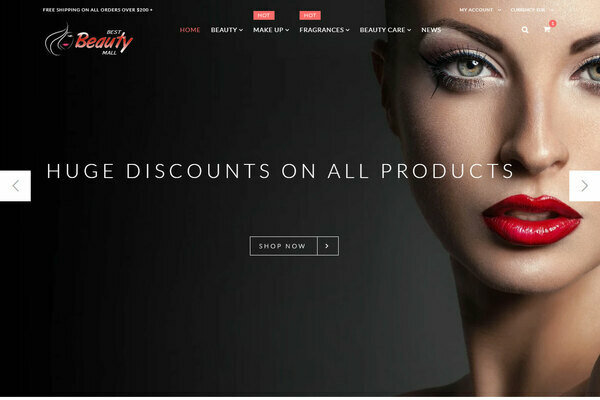 BestBeautyMall.com - PREMIUM AUTOMATED Beauty,Cosmetic,Perfume Dropship store w/10K itms,15yrs domain