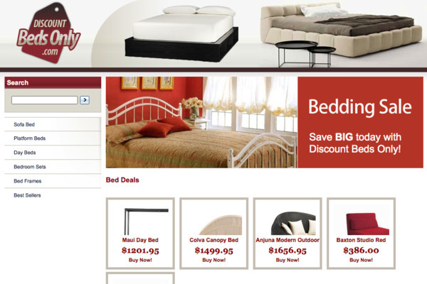 DiscountBedsonly.com - Established store in the furniture niche - High Profit Margins- Easy To Operate!