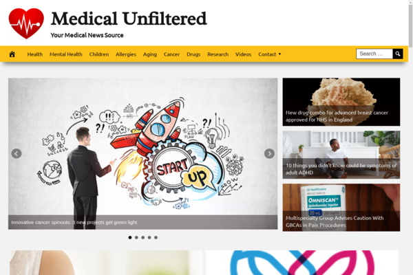 MedicalUnfiltered.com - Fully Automated Medical News News Site - 1 Year Free Hosting BIN + Great Bonuses