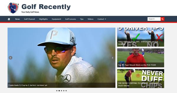 GolfRecently.com - Golf Website, Premium Design, Fully Automated + BIN Hosting Bonus