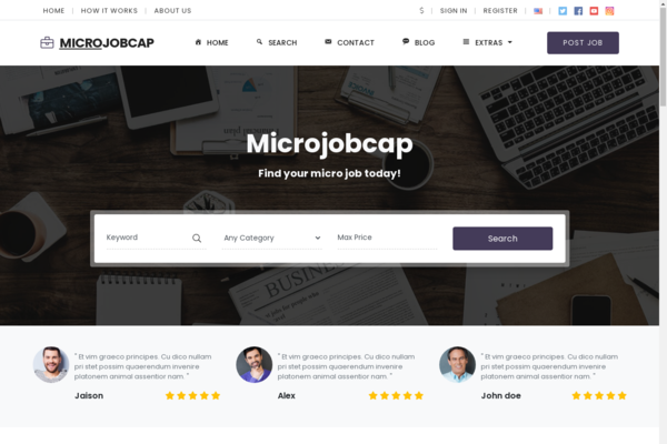 MicroJobcap.com - Start Your Own Micro Jobs Website Today with Super Features