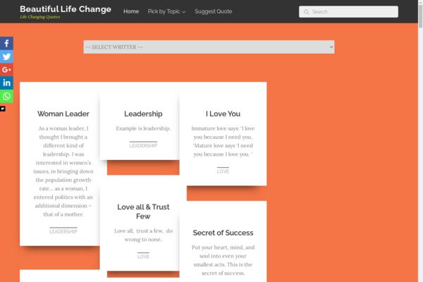 beautifullifechange.com - Beautiful Life Change.com - Wonderful General Purpose Domain