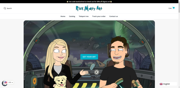 Rick Morty Art - High potential starter site based around the classic Rick and Morty Art style.