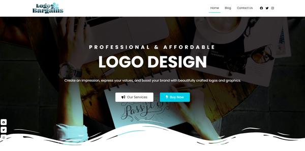 LogoBargains.com - Stunning Logo Service Reseller Business Site, Huge Income Potential
