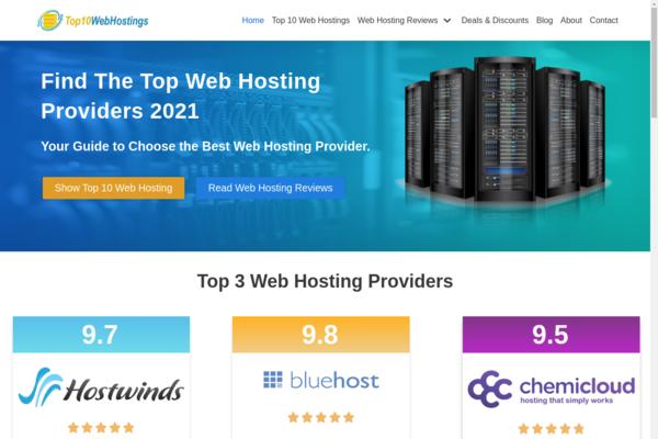 thetop10webhostings.online - Very Profitable Web Hosting Reviews Site, Earn Upto $200/Sale, 1 Year Free Host
