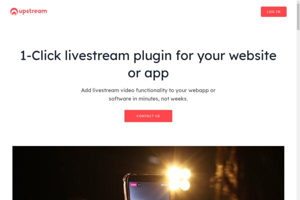 tryupstream.com - 1-Click Livestream SaaS For Developers