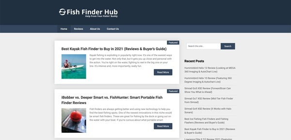 fishfinderhub.com - Advertising / Sports and Outdoor