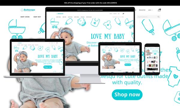 Babiesqu.com - Baby Products Shopify Premium Store. Easy To Use. Usa & International Market